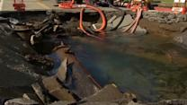 Clean up begins in L.A. after massive water main break