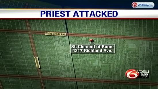 Metairie priest attacked with crowbar