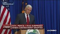 Gov. Pence: Taken aback by controversy eruption