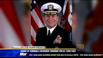 Change of command ceremony aboard USS Ronald Reagan