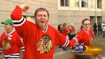 Blackhawks fans rejoice in Game 1 win over Kings