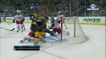 Ryan Murray saves a goal