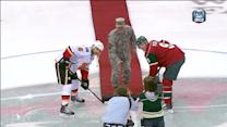 Minnesota Wild Military Appreciation ceremony