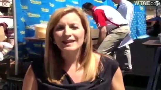 Shannon Perrine previews hot dog eating contest