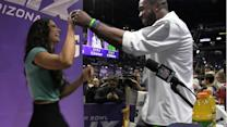 Seattle Seahawks safety Kam Chancellor shows off his moves