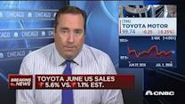Toyota sales fall in June