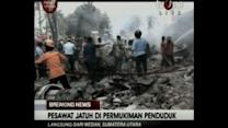 Raw: Indonesian Military Plane Crashes in City