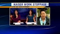 Kaiser workers hold one day work stoppage