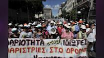 Athens City Workers Strike To Protest Job Cuts