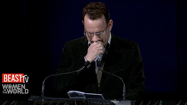 Tom Hanks Chokes Up During Nora Ephron Tribute
