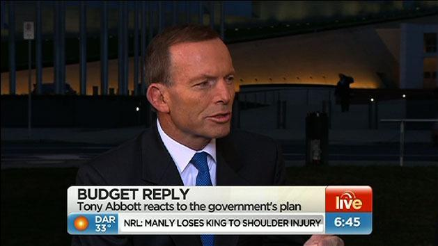 Tony Abbott's budget reply