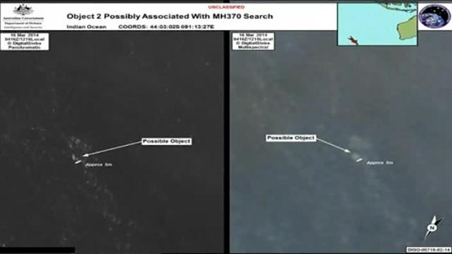 #searchforMH370:AUSTRALIA SPOTS TWO OBJECTS POSSIBLY RELATED TO MISSING PLANE