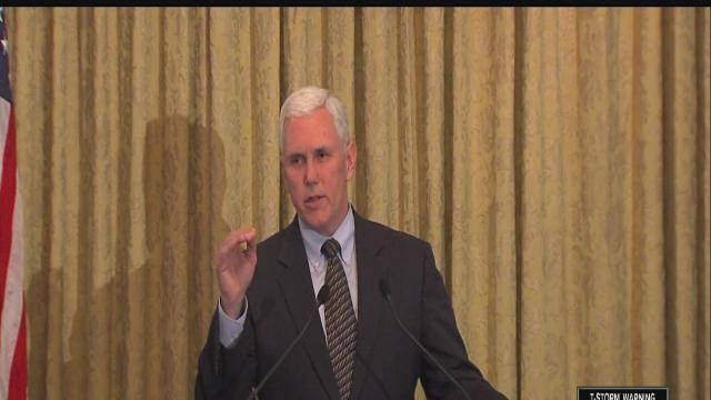 Gov. Mike Pence not backing down on Indiana income tax cut