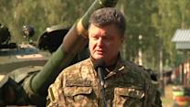 "Ukraine fights ""foreign mercenaries"" in its east, says president"