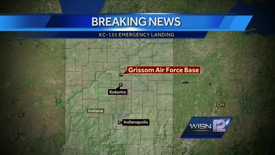 Military plane makes emergency landing in Indiana