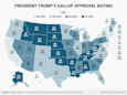 Here's Trump's approval rating in every state