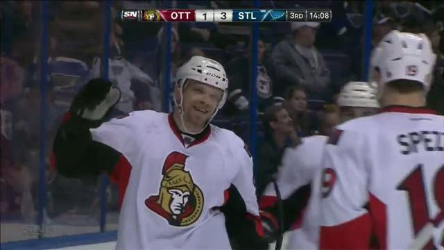 Michalek buries great feed from Spezza