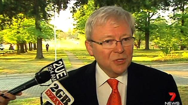 Rudd dismisses leadership challenge