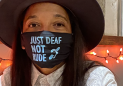 Woman wearing 'Just Deaf, Not Rude' mask speaks out after rude encounter with flight attendant: 'I was very hurt'