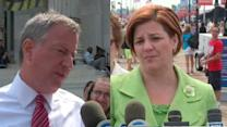 Tensions continue to rise between Quinn and de Blasio