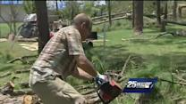 Strangers, co-workers help cleanup after storm