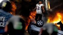 New Orleans Police Struggle To Contain Rioting Ray Lewis After Ravens' Super Bowl Victory