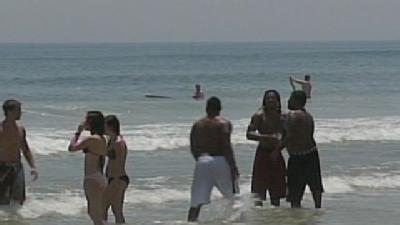 Temperatures Warm, Water Cold At Area Beaches