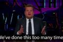 James Corden delivers a passionate speech about gun control in the U.S.