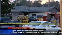 Fire in Lakeside may be result of domestic violence