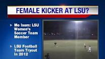 Female Kicker At LSU?