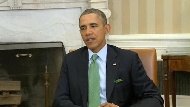 Obama thanks Ireland for support of Ukrainian democracy