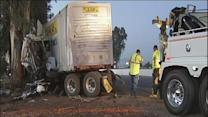 Truck driver dies after crash on Highway 99