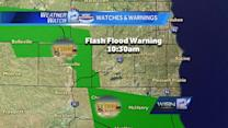 Morning rains create flood warnings in southern Wisconsin
