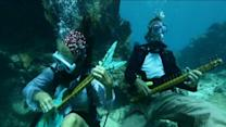 Raw: Divers, Snorkelers at Undersea 'Concert'