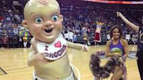 King Cake Baby Mascot Goes With the Season