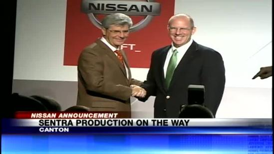 Nissan Sentra to be manufactured in Canton