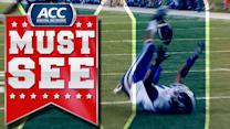 Duke's Johnell Barnes Makes Acrobatic Catch At Chick-fil-A Bowl | ACC Must See Moment