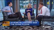 Ten more billionaires sign Giving Pledge