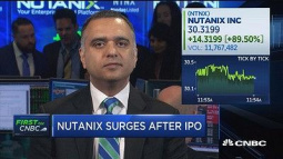 Tech unicorn Nutanix pops more than 130% at public debut