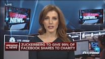 Zuckerberg to gift 99% of his Facebook shares to charity
