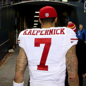 Colin Kaepernick protests national anthem and US flag because he won't 'show pride in a flag for a country that oppresses Black people and people of color'