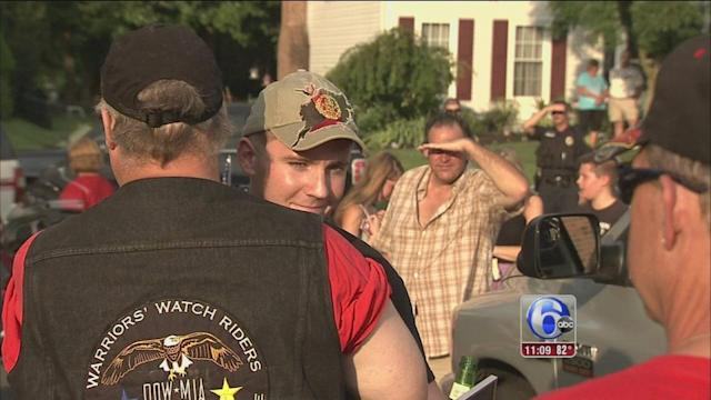 VIDEO: Langhorne Marine gets hero's welcome home