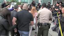 Lindsay Lohan Hit with Glitter Bomb While Arriving at Court