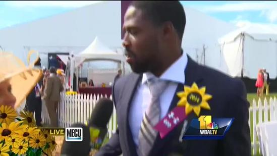Torrey Smith credits wife for Preakness wear