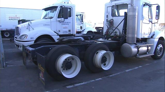 19 tires stolen off IE food bank's trucks