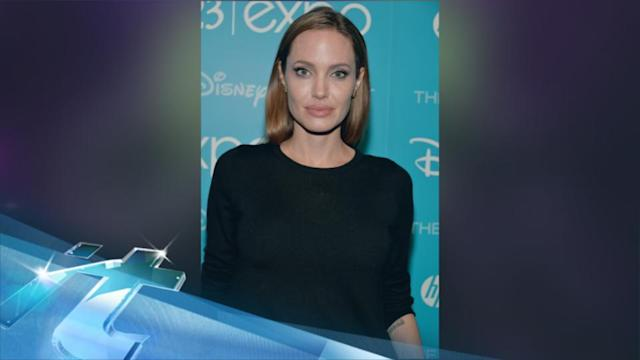 Angelina Jolie Takes Flight In London