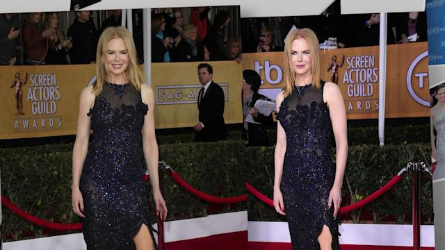 Michelle Dockery Flashes the Flesh at the SAG Awards