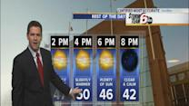 Tuesday Forecast: Temps finally reach the 50s