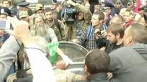 Raw: Ukraine Lawmaker Thrown in Trash Bin