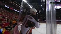 Puck hits off Perry's skate and beats Ramo